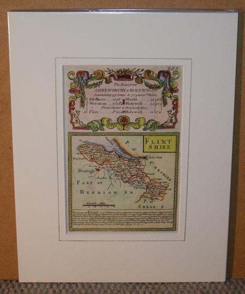 Image for Miniature county map: FLINTSHIRE. From: BRITANNIA DEPICTA.