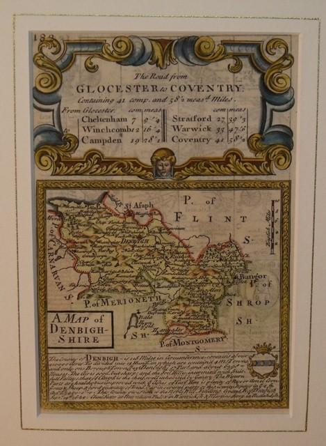Image for Miniature county map: DENBIGHSHIRE. From: BRITANNIA DEPICTA.