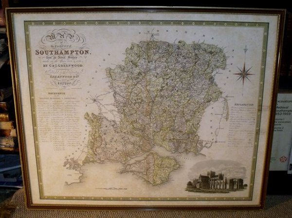 Image for ORIGINAL ENGRAVED MAP OF THE COUNTY OF SOUTHAMPTON. From an actual Survey made in the years 1825 & 1826