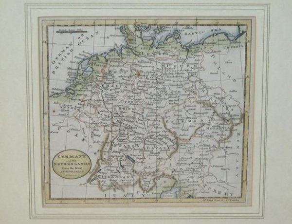 Image for Original Engraved Map of Germany and the Netherlands.