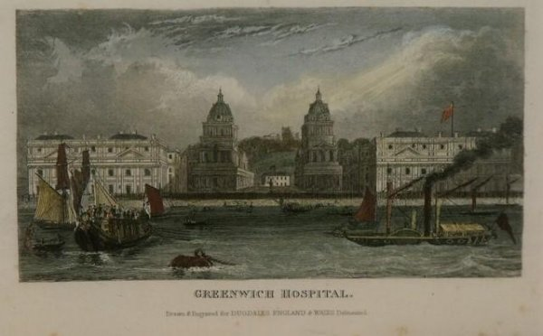 Image for Greenwich Hospital. Drawn and Engraved for Dugdale's England and Wales Delineated.