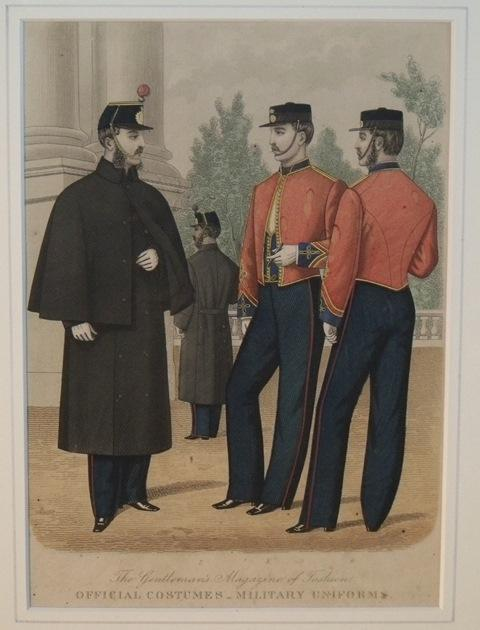 Image for Gentleman's Magazine of Fashion. Official Costumes - Military uniforms.