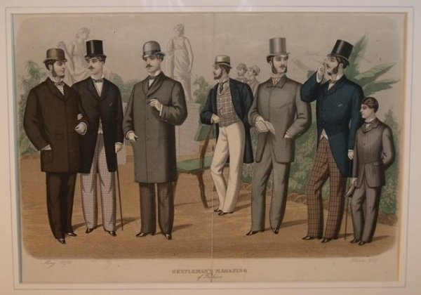 Image for Gentleman's Magazine of Fashion. Plates 1 and 2.