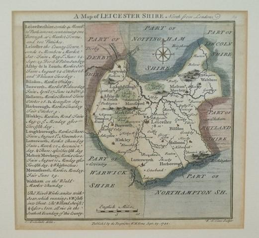 Image for A Map of Leicestershire.