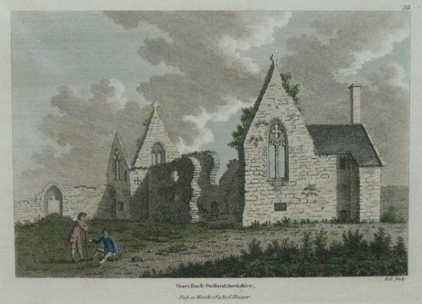 Image for Original engraving of Vicar's House, Portland, Dorsetshire. Pub.12 Mar 1784 by S.Hooper. D.L.Sculpt.