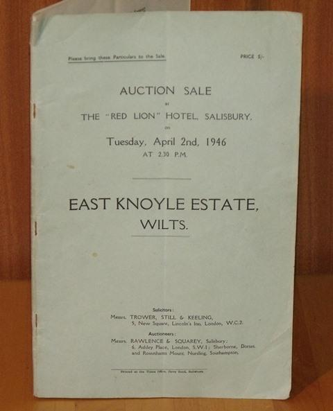 "Image for East Knoyle Estate, Wilts. Auction sale at the ""Red Lion"" Hotel, Salisbury, on Tuesday, April 2nd, 1946 at 2.30 P.M."