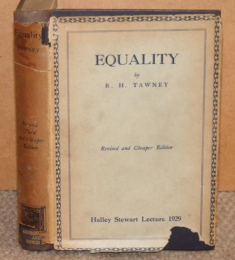 Image for Equality. Revised and cheaper edition. Halley Stewart Lecture 1929.
