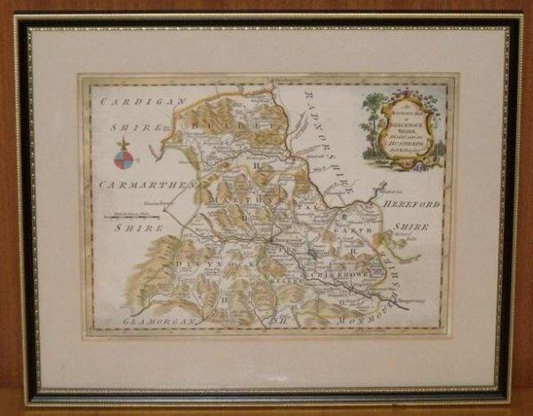 Image for An Accurate Map of Brecknockshire, (Breconshire) Divided into its Hundreds, by G.Rollos, Geographer.