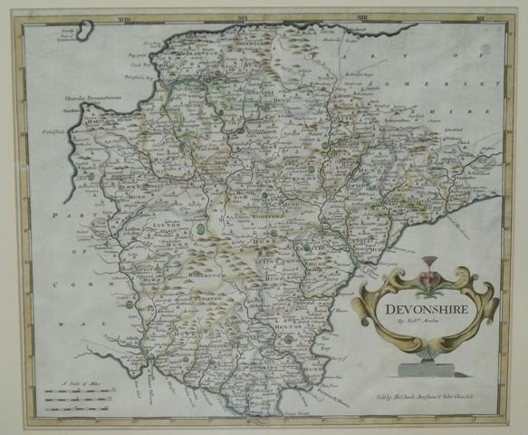 Image for Original Engraved Antique Map of Devonshire.