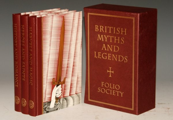 Image for British Myths and Legends. Illustrations by John Vernon Lord. Three volumes, Marvels and Magic, Heroes and Saints, History and Romance.