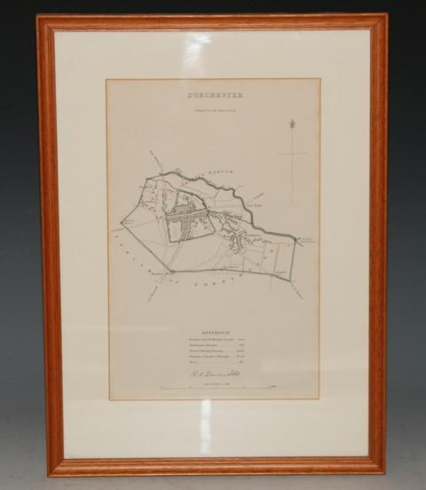 Image for Attractive original engraved TOWN PLAN of DORCHESTER. From The Reports Commissioners Municipal Corp Boundries Dorsetshire, Dorchester.