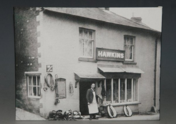 Image for PUDDLETOWN View Outside Hawkins Saddler. Antique Photo Printed on Canvas