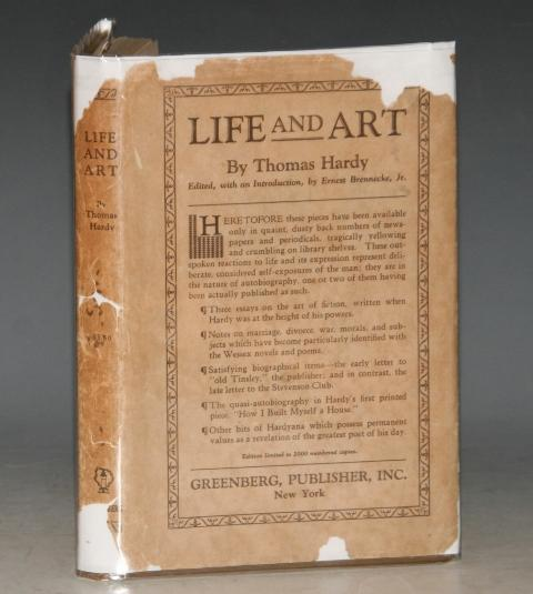 Image for Life and Art. Essays Notes and Letters Collected for the first time. Edited with an introduction by ERNEST BRENNECKE, JR.