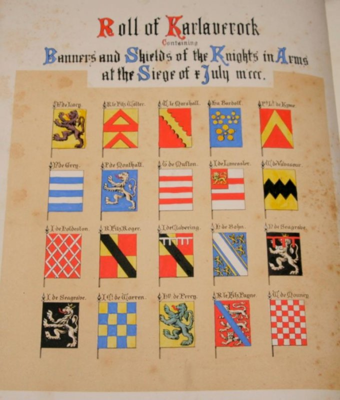 Image for The Roll of Arms of The Princes, Barons and Knights Who Attended King Edward I. To The Siege of Caerlaverock, in 1300. Edited from the Manuscript in the British Museum, with a translation and Notes. With the Coat-Armours Emblazoned in Gold and Colours.