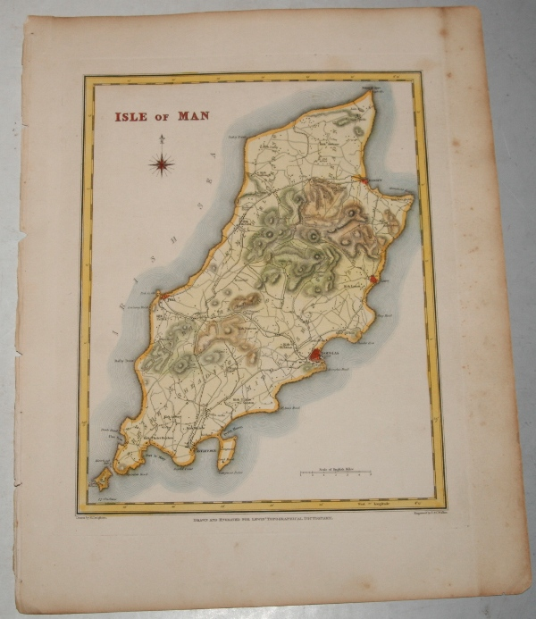 "Image for ORIGINAL ENGRAVED  MAP OF Isle of Man. Engraved for LEWIS's  ""Topographical Dictionary"" and drawn by R. Creighton. From: ""AN ATLAS comprising Maps of the Several Counties, divided into Unions….""."