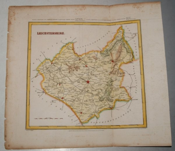 "Image for ORIGINAL ENGRAVED  MAP OF Leicestershire. Engraved for LEWIS's  ""Topographical Dictionary"" and drawn by R. Creighton. From: ""AN ATLAS comprising Maps of the Several Counties, divided into Unions….""."