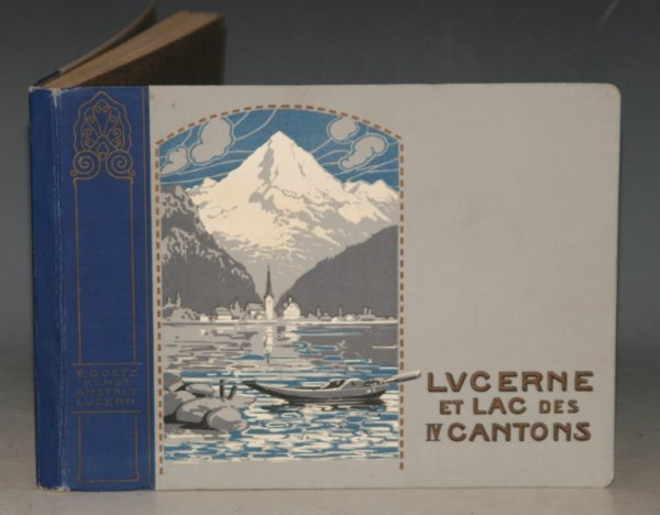 Image for Lucerne et Lac Des IV Cantons (Lake Lucerne and the Four Townships) Souvenir Album of Lucerne in Switzerland with 24 Mounted Early Colour Photographic Plates.