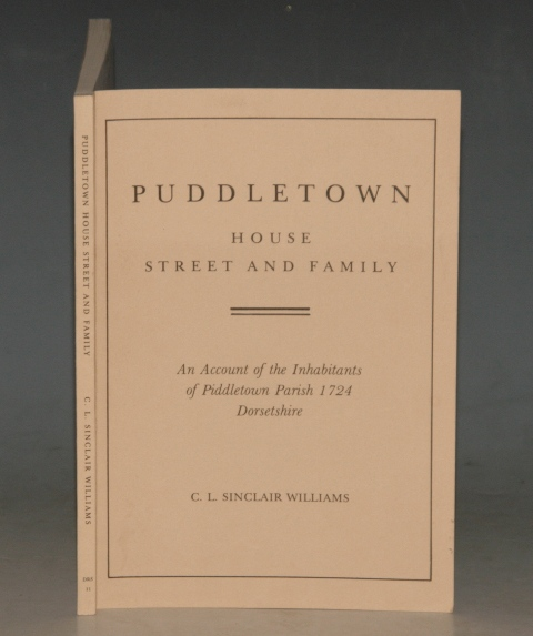 Image for Puddletown. House Street and Family. An Account of the Inhabitants of Piddletown Parish 1724 Dorsetshire.