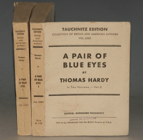 Image for A Pair of Blue Eyes. Tauchnitz Edition. Collection of British and American Authors. Vol. 2282. In Two Volumes.