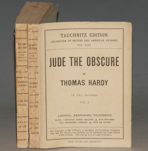 Image for Jude The Obscure. Tauchnitz Edition. Collection of British and American Authors. Vol. 3105 / 3106. In Two Volumes.