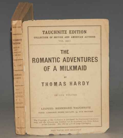 Image for The Romantic Adventures of a Milkmaid. In One Volume. Tauchnitz Edition. Collection of British and American Authors. Vol. 4461