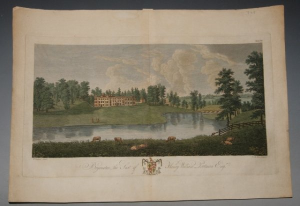"Image for Original Hand-Coloured Engraved View of Bryanston House, nr Dorchester. ""Bryanston, The Seat of Henry William Portman Esq."""