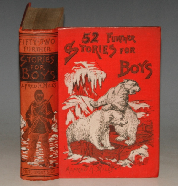 "Image for 52 Further Stories for Boys. Contains: ""The Burman's Treasue,"" (pp.11-23). Ed.by A.H.Miles."