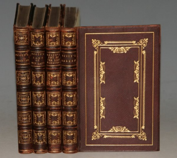 Image for The Lay of the Last Ministrel; Rokeby; Marmion & The Lady of the Lake. Four Volumes Bound in Decorative Leather.