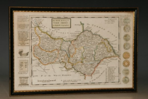 Image for The North Riding of Yorkshire. Original Antique Hand-Coloured Engraved Map.