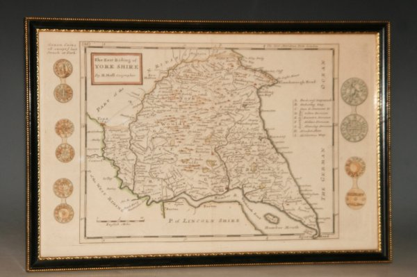 Image for The East Riding of Yorkshire. Original Antique Hand-Coloured Engraved Map.