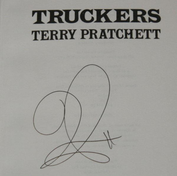 Image for Truckers Signed by the Author.