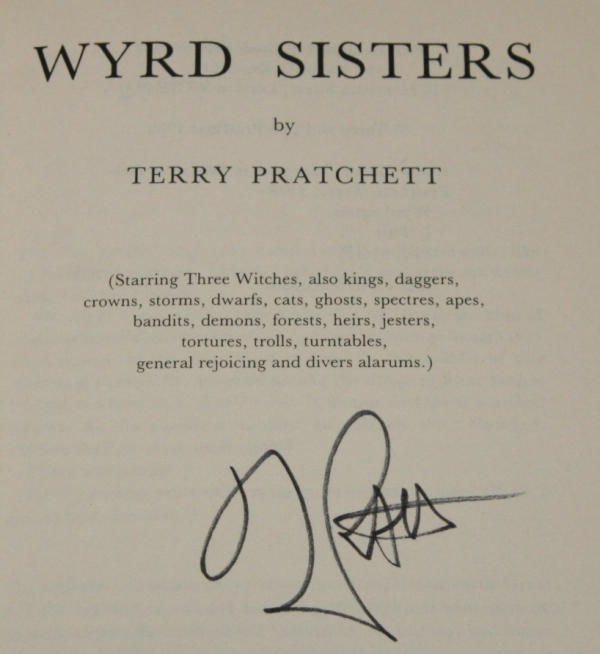 Image for Wyrd Sisters A Discworld Novel. Signed by the Author.
