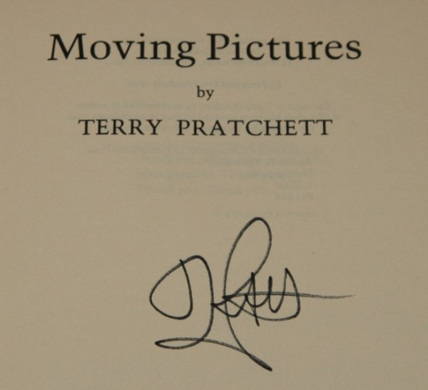 Image for Moving Pictures A Discworld Novel. Signed by the Author.