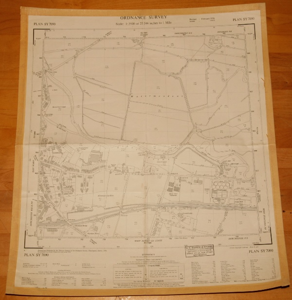 Image for Ordnance Survey MAP Sheet SY 7090. No. 67.  DORCHESTER, DORSET. Plan SY 7090. Scale 1:2500 or 25.344 inches to 1 mile.