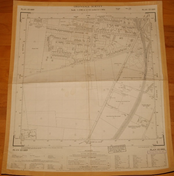 Image for Ordnance Survey MAP Sheet SY 6889. No. 68.  DORCHESTER, DORSET. Plan SY 6889. Scale 1:2500 or 25.344 inches to 1 mile.