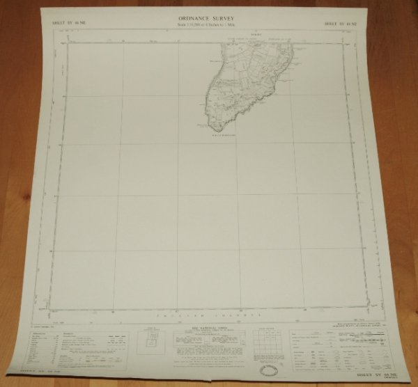 Image for Ordnance Survey MAP Sheet SY 66 NE. ISLE OF PORTLAND, DORSET. Sheet SY 66 NE. Scale 1:10,560 or 6 inches to 1 mile.