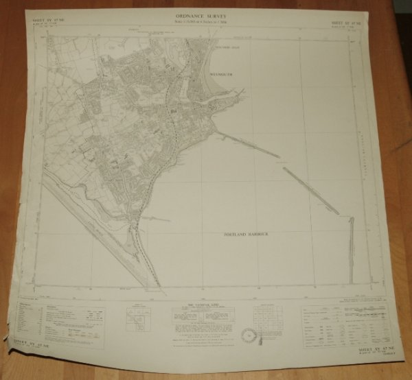 Image for Ordnance Survey MAP Sheet SY 67 NE. WEYMOUTH & PORTLAND HARBOUR, DORSET. Sheet SY 67 NE & Part of SY 77 NW. Scale 1:10,560 or 6 inches to 1 mile.
