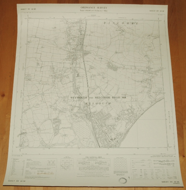 Image for Ordnance Survey MAP Sheet SY 68 SE. WEYMOUTH, DORSET. Sheet SY 68 SE. Scale 1:10,560 or 6 inches to 1 mile.
