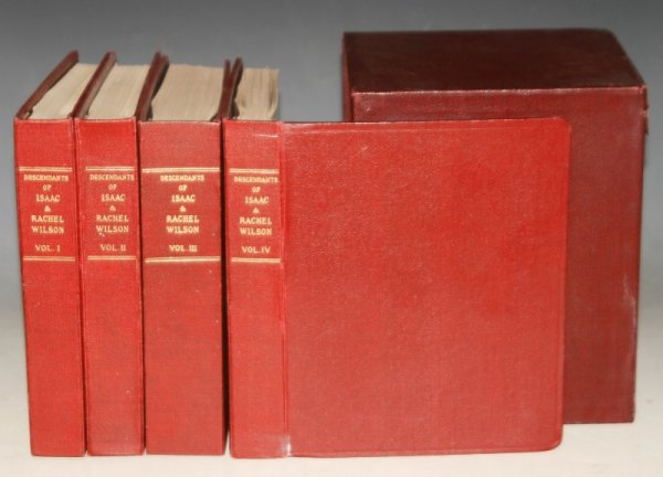 Image for Descendants of Isaac and Rachel Wilson. Photographic Pedigree. In Four Volumes. With Boxed Supplements. Revised by M. E. & J. S. Benson in 1949. In slipcase.