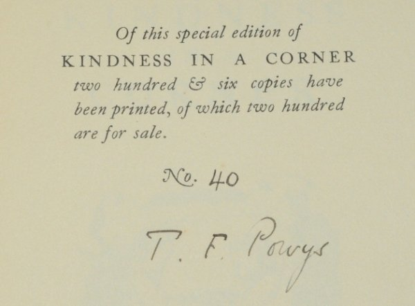 Image for Kindness in a Corner. With title vignette by Gilbert Spenser.
