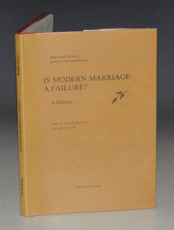 Is Modern Marriage A Failure? A Debate. With an introduction by Margaret Moran. Limited Numbered Edition.