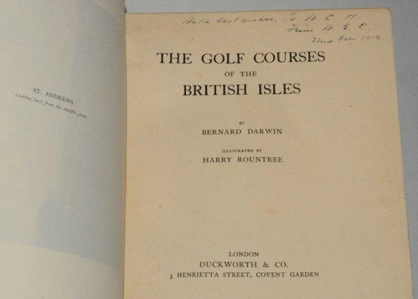 Image for The Golf Courses of the British Isles. Illustrated by Harry Rountree.