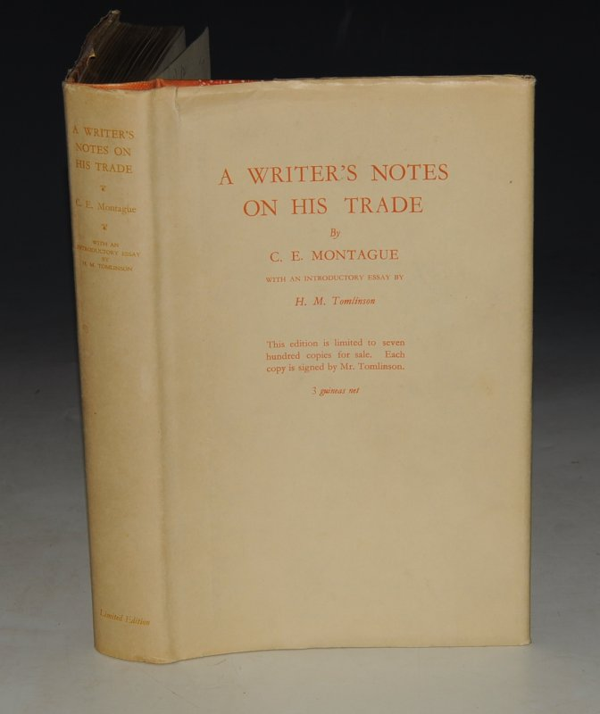 Image for A Writer's Notes on His Trade. With an Introductory Essay by H. M. Tomlinson. SIGNED & NUMBERED Limited Edition.