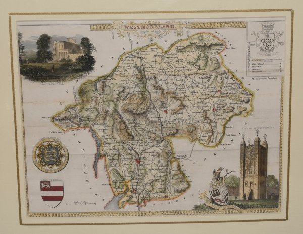 "Image for ORIGINAL ENGRAVED MAP OF WESTMORELAND. From ""The English Counties Delineated"". Or, A Topographical Description of England."