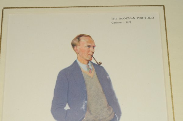 "Image for A. A. Milne. Original colour Portrait print. Fromt ""The Bookman Portfolio, Christmas, 1927."""