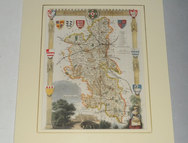 Image for Buckingham, Hamshire Map of Buckingham, Hamshire, showing towns, villages, roads and railways.