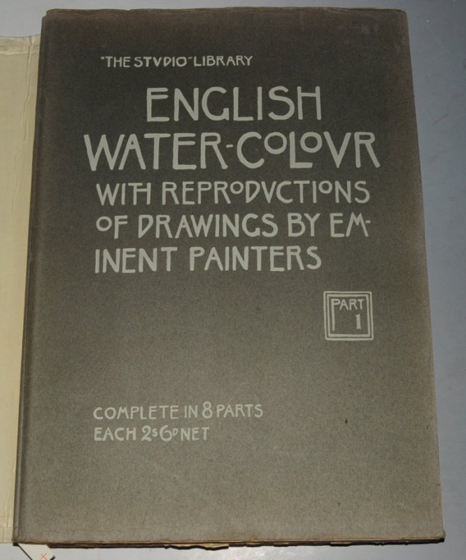 "Image for English water-colour with reproductions of drawings by eminent painters. ""The Studio"" Library. Edited by Charles HOLME. Introduction by Frederick WEDMORE."