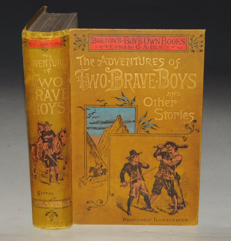 "Image for The Adventures of Two Brave Boys And other Stories. Including The Heir of Langridge Towers, by R. M. Freeman. And King Lion: A Story of Strange Adventures. With Interesting Zoological Sketches, and Useful and Amusing Miscellaneous Articles. Edited by G. A. Henty. With Full-Page and Other Engravings. ""Beeton's Boys' Own Books."""