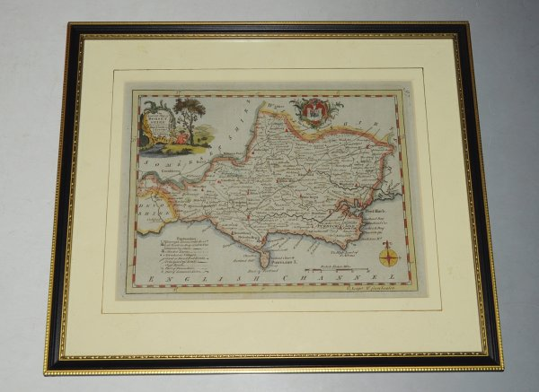 "Image for Antique Original Hand Coloured Engraved Map of Dorsetshire. ""An Accurate map of Dorsetshire, Drawn from the Best Maps and Charts."" From the ""Antiquities of England and Wales""."