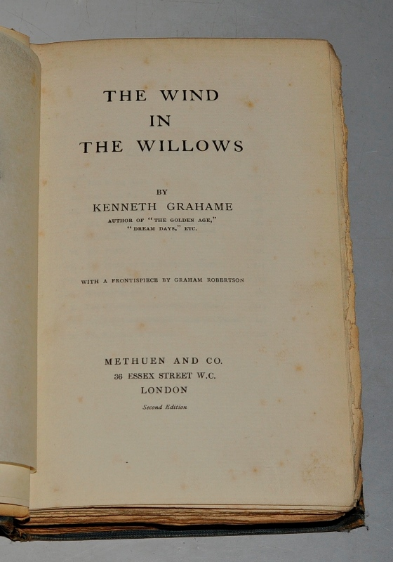 Image for The Wind in the Willows. With a frontispiece by Graham Robertson.